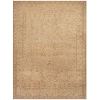 Handmade Vegetable Dye Oushak Wool Rug (Afghanistan) - 9' x 12'