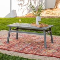 Havenside Home Elephant Point 42-inch Outdoor Chevron Coffee Table - 42 x 21 x 18H