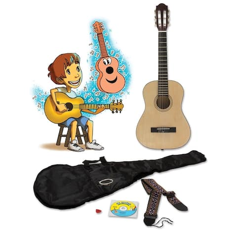 eMedia My Guitar Kit - 3/4 size children's beginner guitar package with lesson to learn how to play!