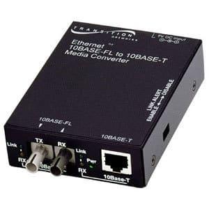 Transition Networks E-TBT-FRL-05 10BASE-T to 10BASE-FL Ethernet Media Converter