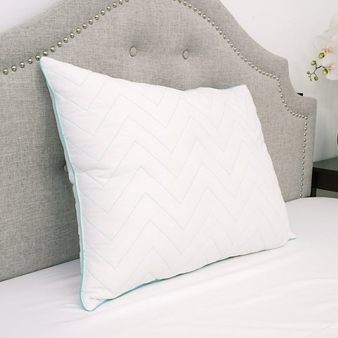 Sweet Home Collection Premium Cotton Cool Microfiber Gel Fill Bed Pillow