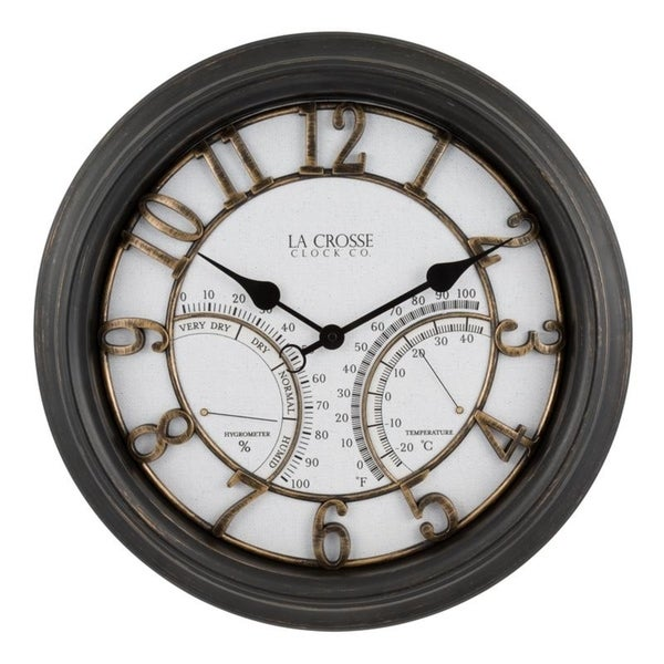 "La Crosse Clock 404-4450 19.7"" Indoor/Outdoor Courtyard Wall Clock"