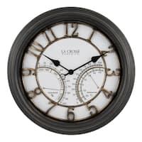 """La Crosse Clock 404-4450 19.7"""" Indoor/Outdoor Courtyard Wall Clock"""