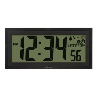 """Link to La Crosse Technology 515-1419-INT 15"""" LCD Textured Atomic Clock Similar Items in Decorative Accessories"""