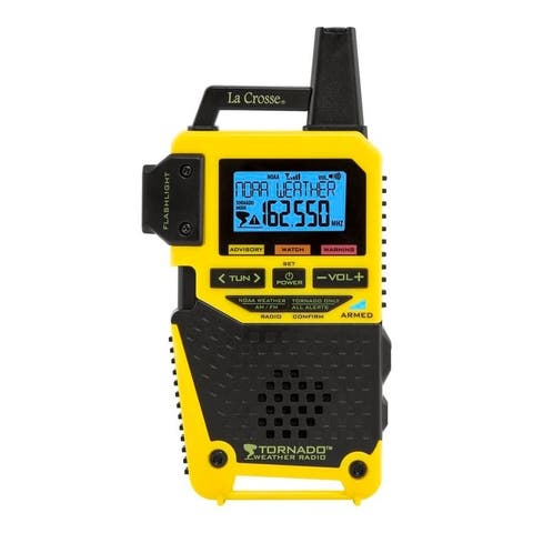 La Crosse S83301 NOAA Weather Alert Radio with 1-Button Alert (TORNADO ONLY)