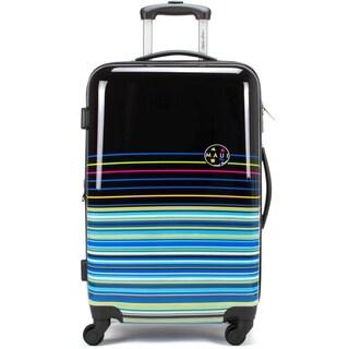 "Maui and Sons Stripes Expandable Hardside Luggage, TSA lock, 28"""