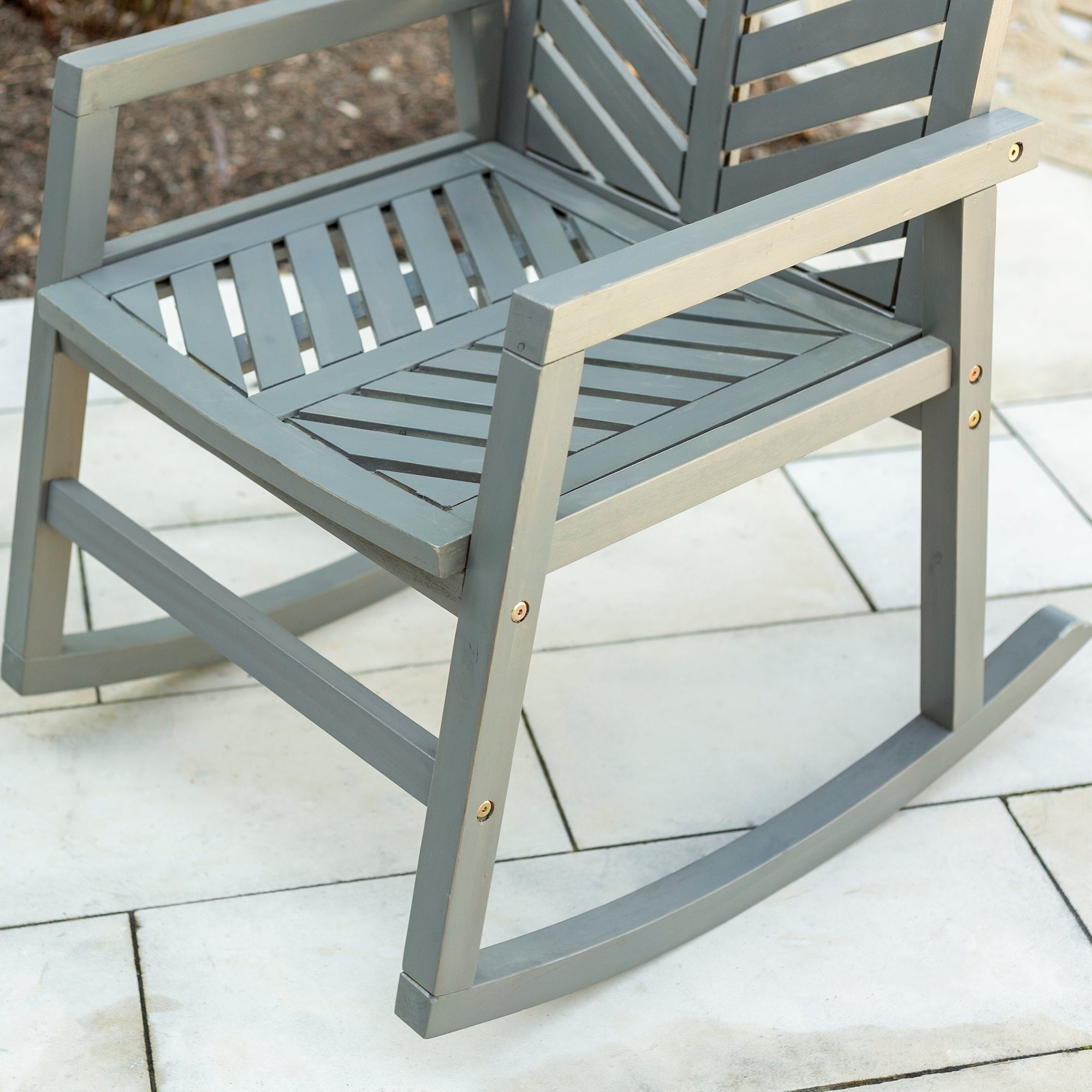 Havenside Home Elephant Point Outdoor Chevron Rocking Chair