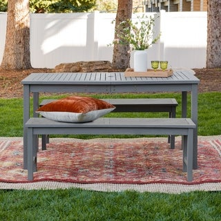 Havenside Home Elephant Point 3-piece Outdoor Chevron Dining