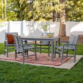 Havenside Home Elephant Point 5-piece Outdoor Chevron Dining Set