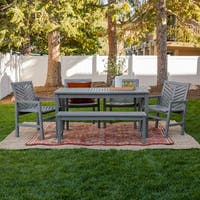 Havenside Home Elephant Point 6-piece Outdoor Chevron Dining