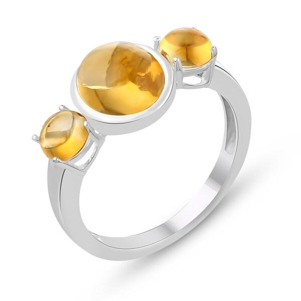 3ef2cd3dafac2 4.05 Carat Genuine Citrine Ring in .925 Sterling Silver