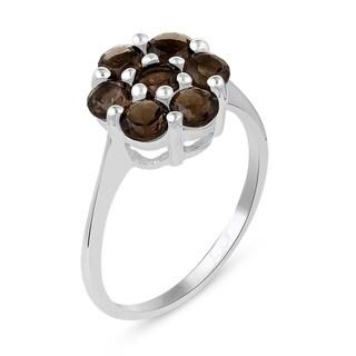 8.47 Carat Genuine Smoky Quartz Ring in .925 Sterling Silver