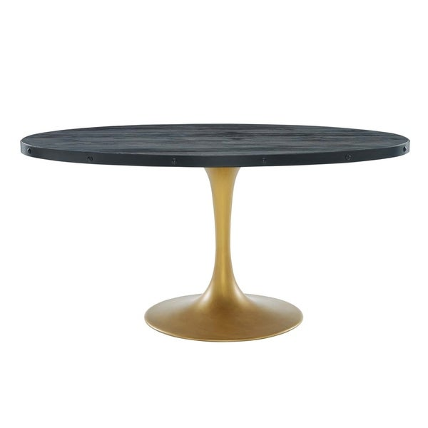 """Drive 60"""" Oval Wood Top Dining Table - Black Gold. Opens flyout."""