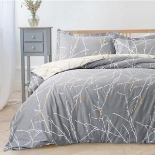 Bedsure Branch Printed Pattern Duvet Cover Set