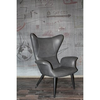 Link to Divani Casa Slater Modern Dark Grey Leatherette Lounge Chair Similar Items in Living Room Chairs