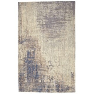 5' x 8' Wanderlust Hand Woven Cotton Chenille Abstract Rug