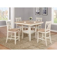 OS Home and Office Furniture Farm House Counter Height Two Toned Table and Four Chairs