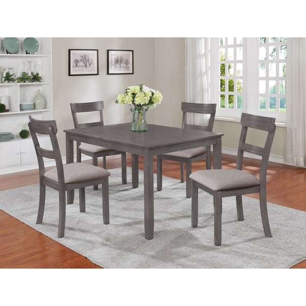 Os Home And Office Furniture 2254 Dining Height Table Four Chairs