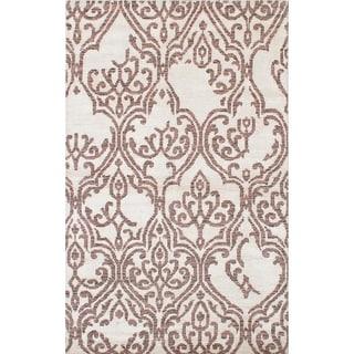 eCarpetGallery  Hand-knotted La Seda Cream  Rug - 4'10 x 7'11