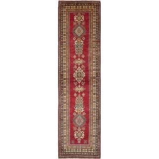 eCarpetGallery  Hand-knotted Finest Gazni Dark Burgundy Wool Rug - 2'9 x 10'5