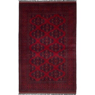 eCarpetGallery  Hand-knotted Finest Khal Mohammadi Red Wool Rug - 4'2 x 6'7