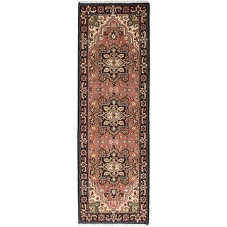eCarpetGallery Hand-knotted Royal Heriz Copper Wool Rug - 2'7 x 7'11
