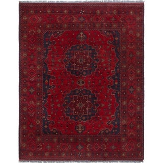 eCarpetGallery  Hand-knotted Finest Khal Mohammadi Red Wool Rug - 4'11 x 6'4