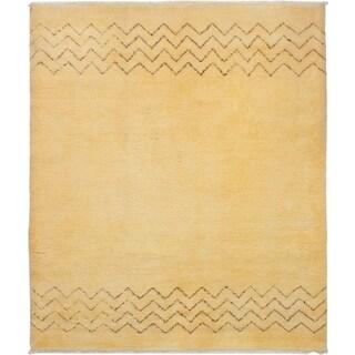 eCarpetGallery  Hand-knotted Royal Maroc Cream Wool Rug - 8'1 x 9'6