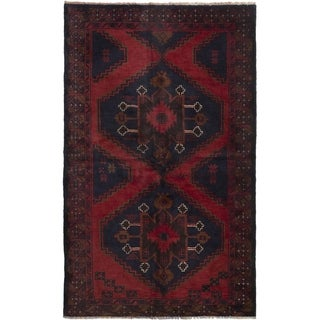 eCarpetGallery  Hand-knotted Rizbaft Dark Copper Wool Rug - 3'7 x 6'3