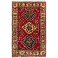 eCarpetGallery  Hand-knotted Finest Kargahi Red Wool Rug - 4'0 x 6'5
