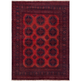 eCarpetGallery  Hand-knotted Finest Khal Mohammadi Dark Copper Wool Rug - 6'10 x 9'5