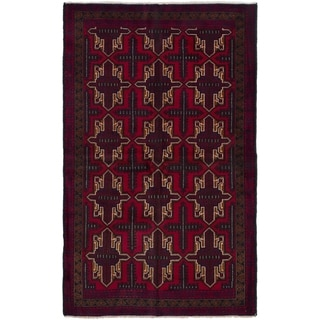 eCarpetGallery  Hand-knotted Kazak Red Wool Rug - 3'9 x 6'3