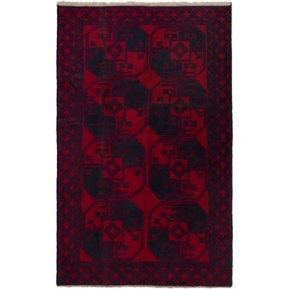 eCarpetGallery  Hand-knotted Teimani Red Wool Rug - 3'6 x 6'0
