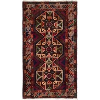 eCarpetGallery  Hand-knotted Kazak Dark Brown Wool Rug - 3'4 x 5'10