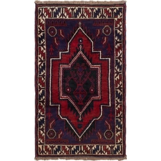eCarpetGallery  Hand-knotted Baluch Dark Blue, Red Wool Rug - 2'10 x 4'9