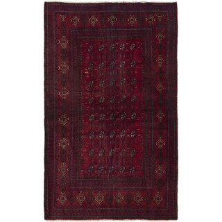 eCarpetGallery  Hand-knotted Rizbaft Red Wool Rug - 3'10 x 6'3