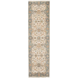 eCarpetGallery  Hand-knotted Royal Ushak Cream Wool Rug - 2'7 x 10'2