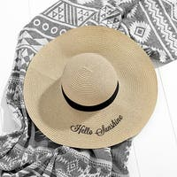 Cathy's Concepts Hello Sunshine Natural Straw Hat