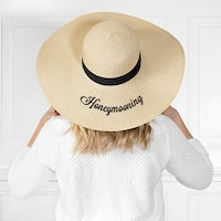 Cathy's Concepts Honeymooning Natural Straw Hat