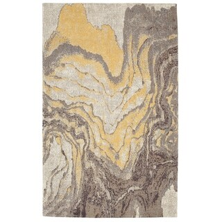 Porch & Den Chesney Hand-woven Abstract Pattern Cotton Chenille Area Rug - 8' x 10'