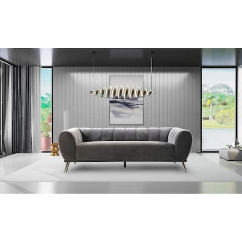 Chic Home Fedor Velvet Channel-quilted Sofa