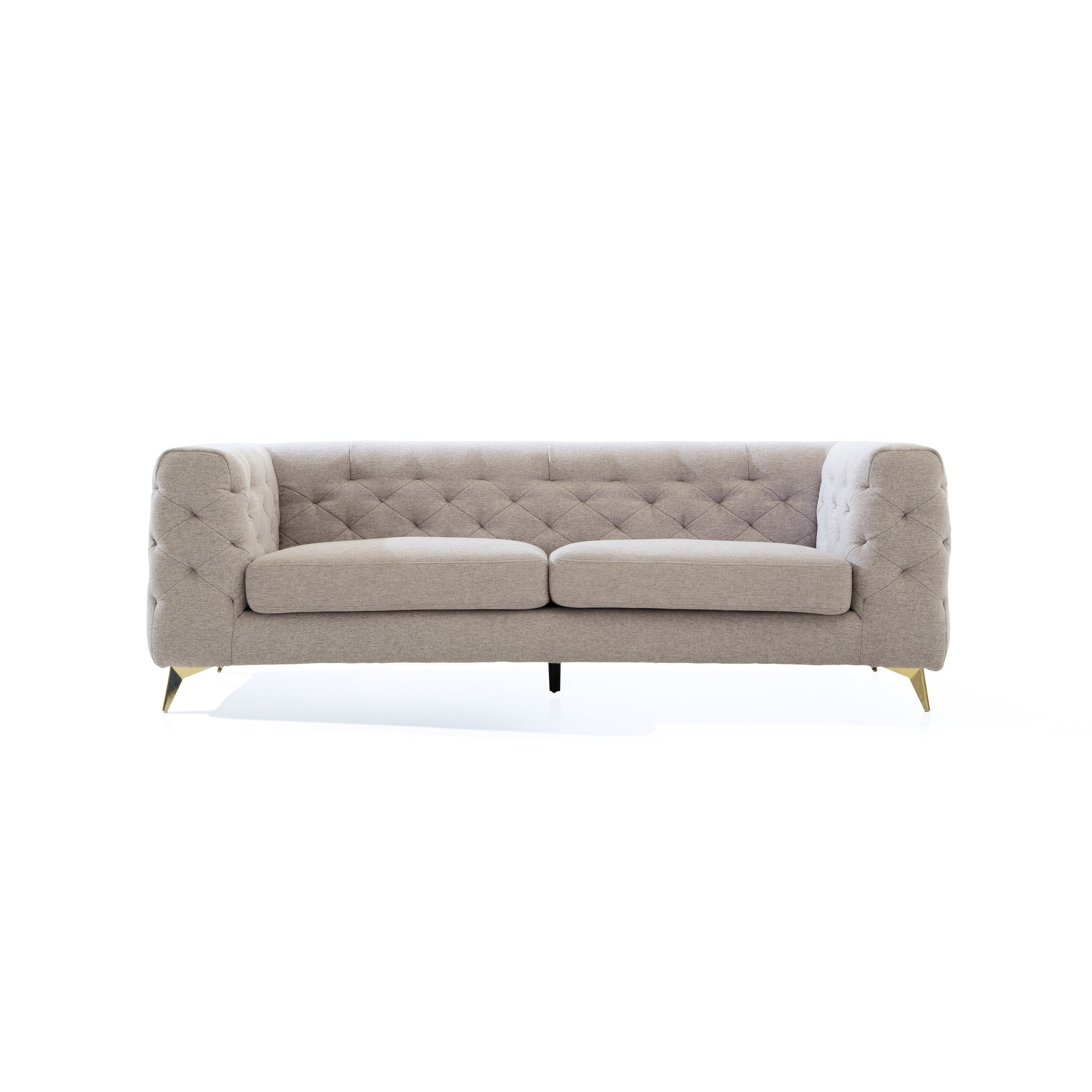Outstanding Chic Home Carlyle Linen Textured Upholstery Tufted Shelter Arm Sofa Cjindustries Chair Design For Home Cjindustriesco