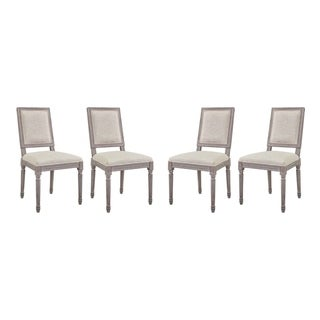 Court Upholstered Fabric Dining Side Chairs (Set of 4)