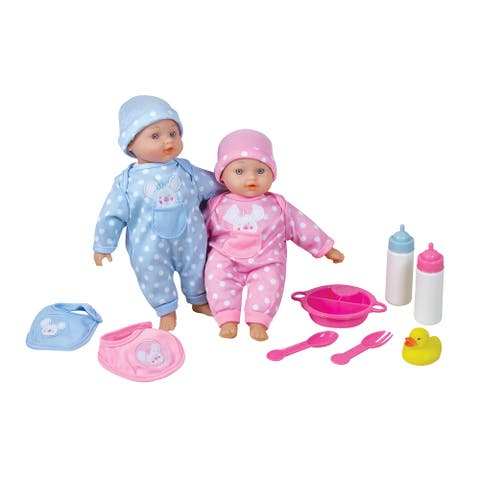 "Lissi 11"" Twin Baby Dolls"
