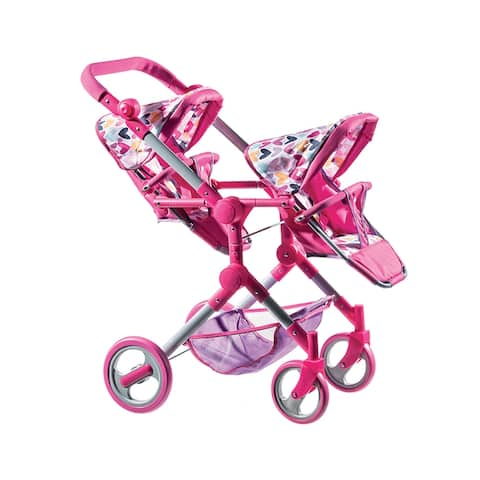 Lissi Modern Twin Baby Doll Stroller