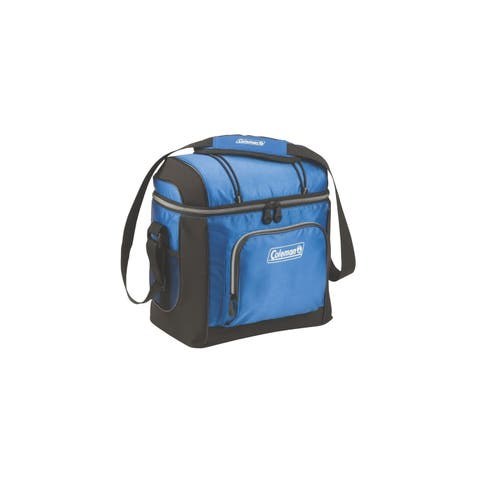 Coleman 16-Can Soft Cooler With Hard Liner Blue