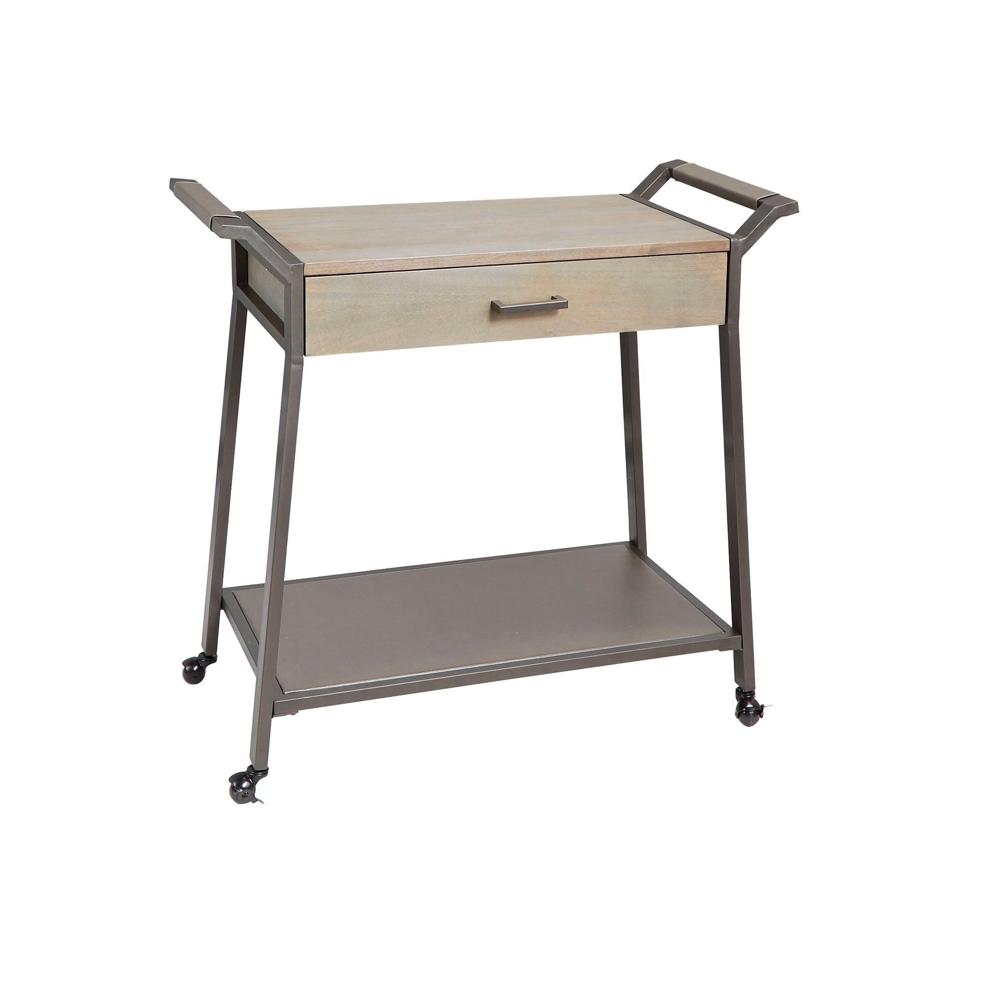 Cohen Modern Industrial Kitchen Cart With Drawer Ebay