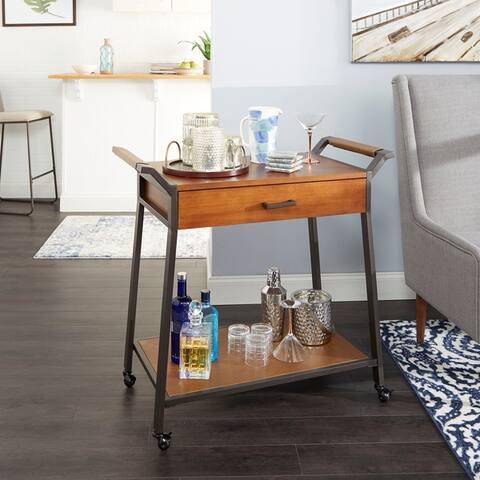 Cohen Modern Industrial Kitchen Cart with Drawer