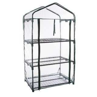 GENESIS 3 Tier Portable Rolling Greenhouse with Clear Cover