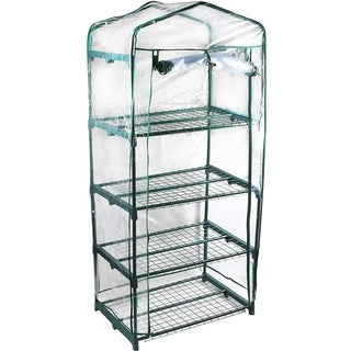 Link to GENESIS 4 Tier Portable Rolling Greenhouse with Clear Cover Similar Items in Gardening